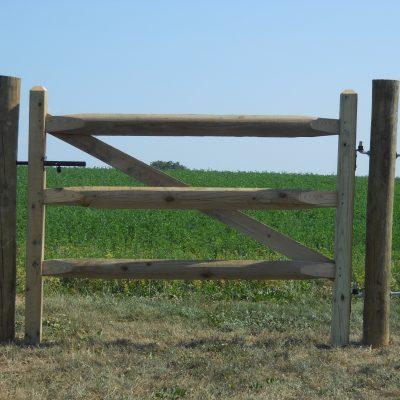 Heavy Duty Split Rail Gate